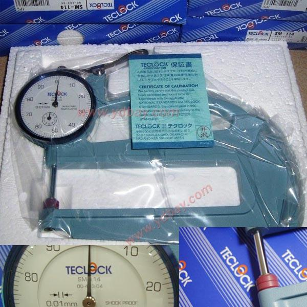 // SM-114 0-10mm TECLOCK THICKNESS GAUGES MADE IN JAPAN